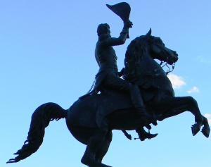 . . . I also think Andrew Jackson and his horse look pretty impressive against a clear September sky.